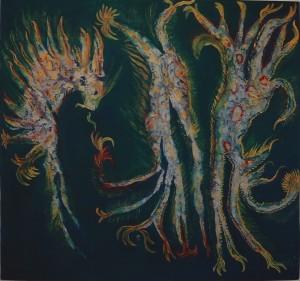 Danza di Primavera. Tecnica Mista. Impressionismo Informale - 1998