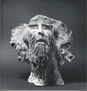 Giano Bifronte. Bronzo - 1976