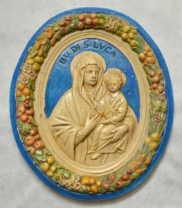 Madonna con bambino. Ceramica. Omaggio alla B.V. San Luca di Bologna