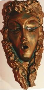 Maschera. Terracotta - 1980